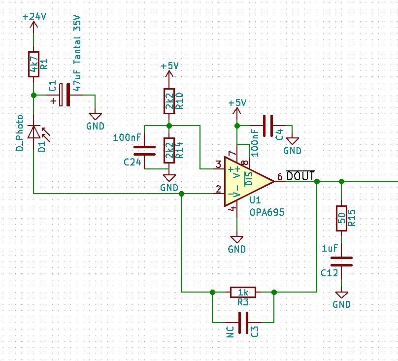 Figure 1 Simple Transimpedance Amplifier Circuit